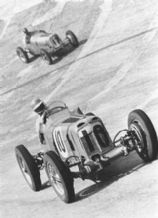 ERA R8C Earl Howe at Brooklands 1939 at speed